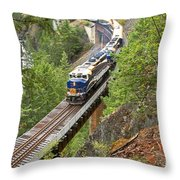 The Rocky Mountaineer Railroad Throw Pillow