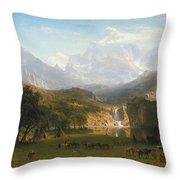 The Rocky Mountains Landers Peak Throw Pillow