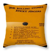 The Rolling Stones Sticky Fingers Side 1 Throw Pillow