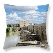 The Roman Bridge Of Cordoba  Throw Pillow