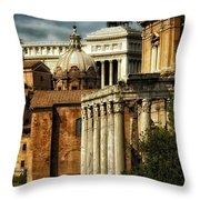 The Roman Forum 2 Throw Pillow