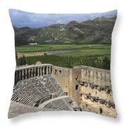 The Roman Theatre In Aspendos Antalya Turkey  Throw Pillow