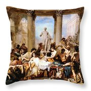 The Romans Of The Decadence Throw Pillow