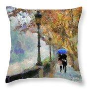 The Romantic Stroll Throw Pillow