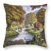 The Romany Camp Throw Pillow