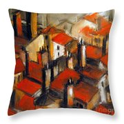 The Roofs Of Lyon Throw Pillow