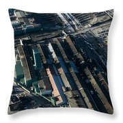 The Rooftops Of Arcelormittal Dofasco Throw Pillow