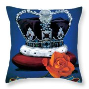 The Rose & Crown Throw Pillow