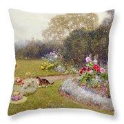 The Rose Garden Throw Pillow