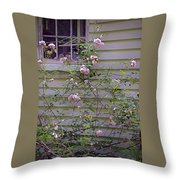 The Rose Shed Throw Pillow