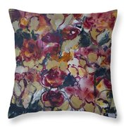 The Roses Throw Pillow
