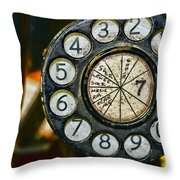 The Rotary Dial Throw Pillow