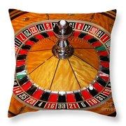 The Roulette Wheel Throw Pillow
