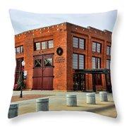 The Roundhouse Evanston Wyoming - 1 Throw Pillow