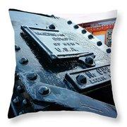 The Roundhouse Evanston Wyoming - 3 Throw Pillow