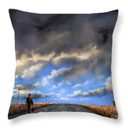 The Route Out Throw Pillow