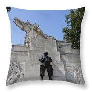 The Royal Artillery War Memorial By Charles Sargeant Jagger And Lionel Pearson In London England Throw Pillow