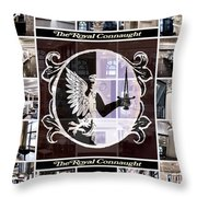 The Royal Connaught Crest Photo Collage Throw Pillow