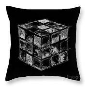 The Rubik's Cube Throw Pillow