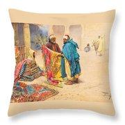 The Rug Merchant Throw Pillow