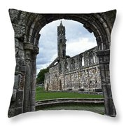 The Ruins Of St Andrews Cathedral Throw Pillow
