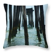 The Ruins Of The 59th Street Pier  Throw Pillow