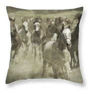 The Run For Freedom Throw Pillow