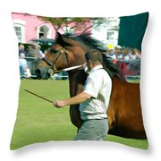 The Running Of The Stallions Throw Pillow