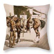 The Rural Guard Mexico Throw Pillow