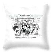 The Rush Hour Bouncer Throw Pillow