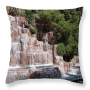 The Rush Of Water Throw Pillow