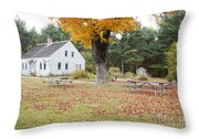 The Russell-colbath Historic Homestead - Albany New Hampshire Throw Pillow
