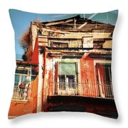 The Rustic Look In Naples Italy Throw Pillow