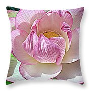 The Sacred Lotus  Throw Pillow