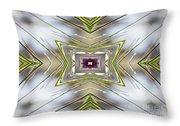The Sacred Pine Mandala Yantra Throw Pillow