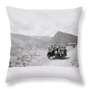 The Sacred Valley Throw Pillow