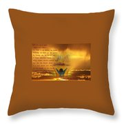 The Sacrifice Of Praise Throw Pillow