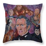 The Saga Of Frankenstein Throw Pillow