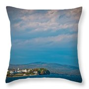 The Sagamore Hotel On Beautiful Lake George Throw Pillow