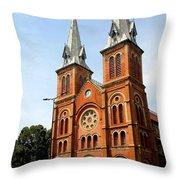 The Saigon Notre-dame Basilica Throw Pillow