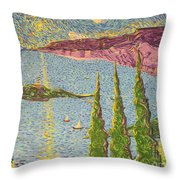 The Sailing Cove Throw Pillow