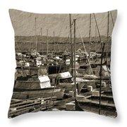 The Sailing Pier Throw Pillow