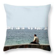 The Sailor With No Boat Throw Pillow