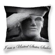 The Sailors Creed Throw Pillow