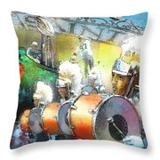 The Saints Parade In New Orleans 2010 01 Throw Pillow