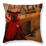 The Saloon At John's Fancy Throw Pillow