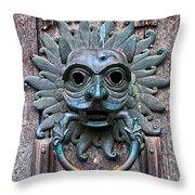 The Sanctuary Knocker Throw Pillow