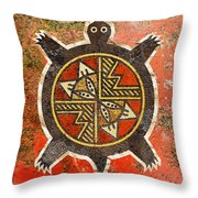 The Sand Turtle Throw Pillow by Sergey Khreschatov