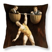 The Sandow Throw Pillow by Aged Pixel