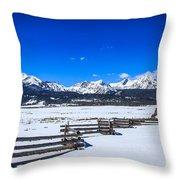 The Sawtooth Mountains Throw Pillow